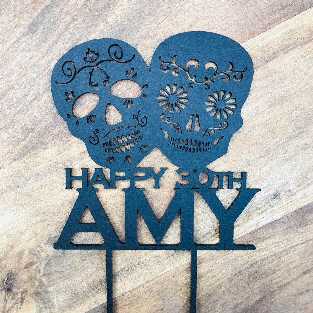 Sugar Skull Cake Topper Personalised Sugar Skull Cake Topper Cake Decorating  Personalised Cake Cake Decorating Ideas Alternative Cake