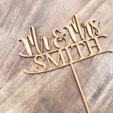 Mr & Mrs Surname Personalised Wedding Cake Topper Wedding Cake Engagement Cake Topper Cake Decoration Cake Decorating Mr and Mrs Topper BNR