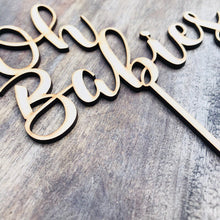 Oh Babies Cake Topper Cake Baby Shower Cake Topper Shower Cake Decoration Baby Shower Topper Oh Baby Cake Shower Cake Twin babies SPMG