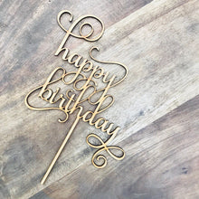 Happy Birthday Cake Topper Birthday Cake Topper Cake Decoration Cake Decorating Happy Birthday Cursive Topper SMNT1 Sugar Boo Cake Toppers