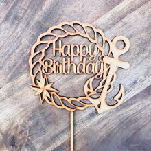 Nautical Happy Birthday Cake Topper Cake Toppers Cake Decoration Cake Decorating Anchor Rope Cake Topper Sugar Boo Sugar Boo Cake Toppers
