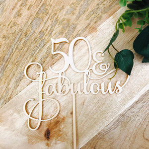 Download SVG File Cutting File 50 & Fabulous Cake Topper 50th Birthday Cake Topper Cake Decoration Cake Decorating Birthday Cakes Fifty Cake