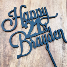 Happy 21st Birthday Cake Topper Personalised with age Cake Topper Cake Decoration Cake Decorating Personalised Cake Toppers Custom Cake LVD