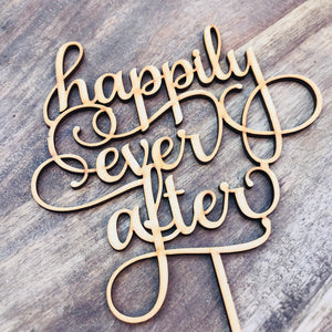 Happily Ever After Wedding Cake Topper Cake Topper Cake Decoration Cake decorating wedding cake topper Sugar Boo Cake Toppers SugarBoo SMT
