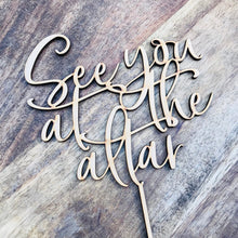 See You At The Altar Cake Topper Engagement Cake Topper Circle Cake Cake Topper Cake Decoration Cake Decorating Engaged Topper Sugar Boo