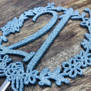 Wreath 21st Cake Topper Boho Cake Cake Topper Cake Decoration Cake Decorating wreath cake topper 21 twenty one twenty first cake Sugar Boo