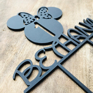 Mouse Custom Design Cake Topper Cake Decoration Cake Decorating Personalised Cake Toppers Custom Cake Topper Minnie One 1 topper