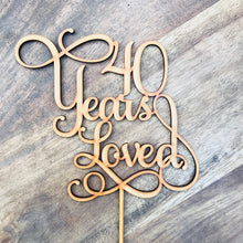 Anniversary - Cake Toppers