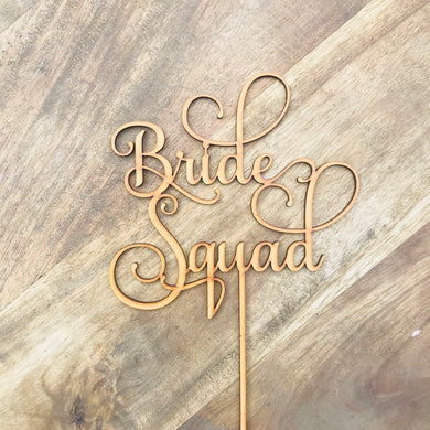 Download SVG File Cutting File Bride Squad Cake Topper Bridal Shower Cake Kitchen Tea Cake Cake Topper Cake Decoration Cake Decorating Bride