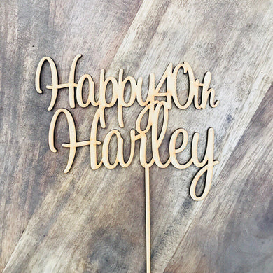 Happy 40th Personalised Cake Topper 40th Topper Cake Decoration Cake Decorating Personalised Cake Toppers Birthday Cake Topper SWTHRT Sugar