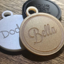 9.5cm Personalised Acrylic Tags Mirror Tags Christmas Tree Bauble Bag Tag Gift Tag Key Ring Dog Tag Engraved Circle Custom Made Your Text