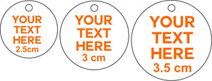 50 x 3.5cm Personalised Acrylic Mirror Tags  Tags Christmas Tree Bauble Bag Tag Gift Tag Key Ring Engraved Circle Custom Made Your Text