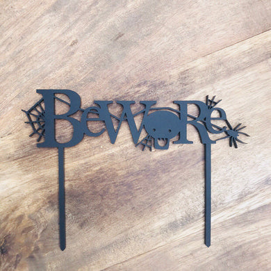 Halloween Cake Topper Cake Decoration Cake Decorating  Personalised Cake Cake Decorating Ideas Halloween Beware Cake Topper Alternative Cake
