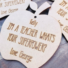 Personalised Ornament Apple Teacher Gift Bauble Personalized Christmas Gift Hanging Bauble Gifts for teachers CSTM