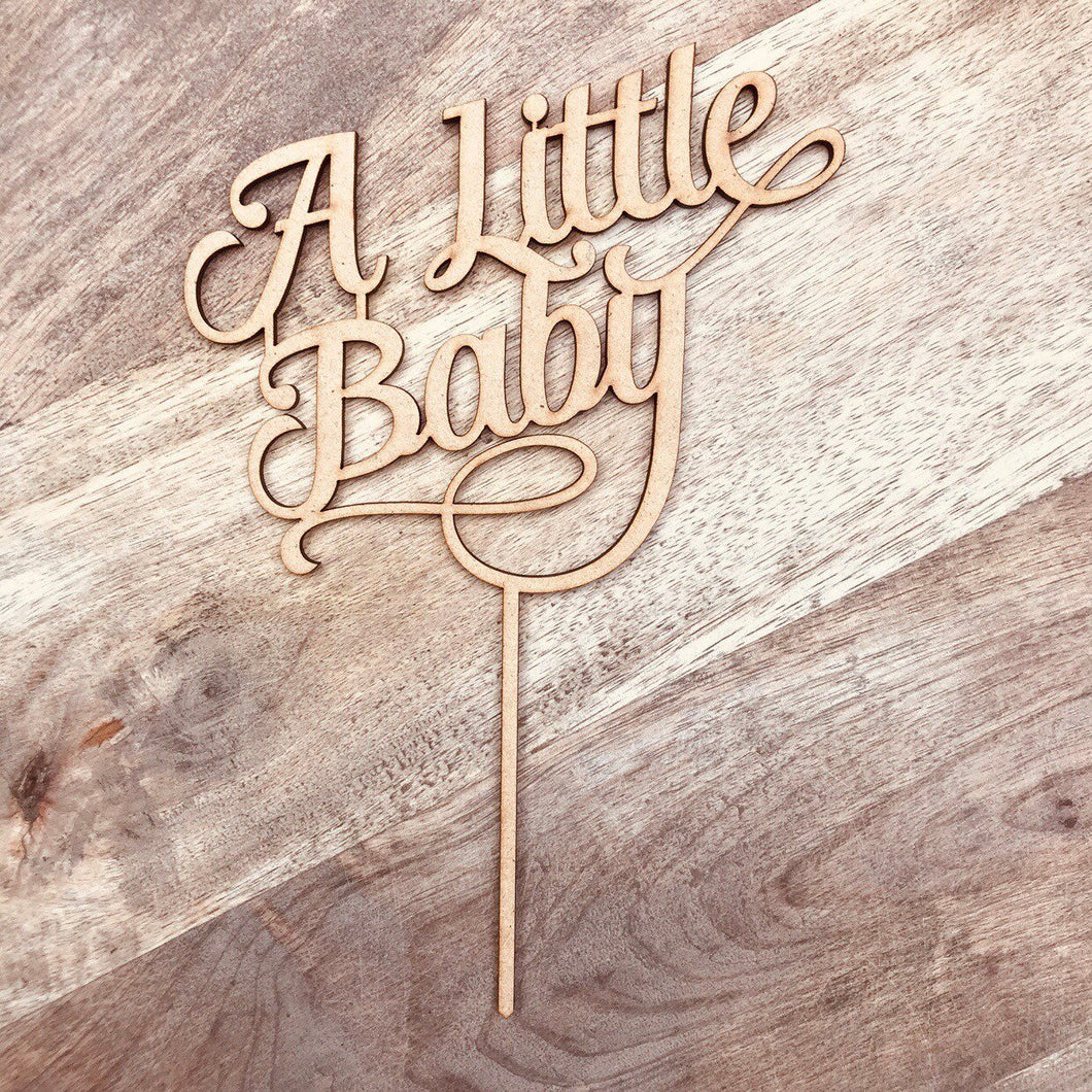 Baby Shower Cake Topper Cake Decoration Cake Decorating Cake Toppers Cupcake Toppers Baby Shower Cakes Personalised topper KTH A Little Baby
