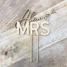 Almost Mrs Cake Topper Bridal Shower Cake Kitchen Tea Cake Cake Topper Cake Decoration Cake Decorating Hens Night Topper Sugar Boo