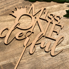 Miss Onederful Cake Topper Cake Decoration Cake Decorating Personalised Cake Toppers 1st Birthday Cake Topper