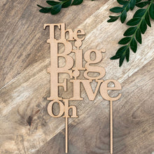 The Big Five Oh Cake Topper Personalised Cake Topper Cake Decoration Cake Decorating Personalised Cake Toppers Birthday Cake Topper
