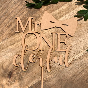 Mr Onederful Cake Topper Cake Decoration Cake Decorating Personalised Cake Toppers 1st Birthday Cake Topper