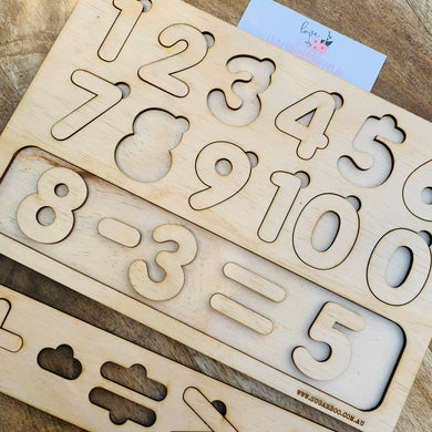 Mathematics Puzzle — Wood Puzzle, Number Puzzle, Craft, DIY, Custom Puzzle, Sensory, Timber, Montessori, Maths, Wooden