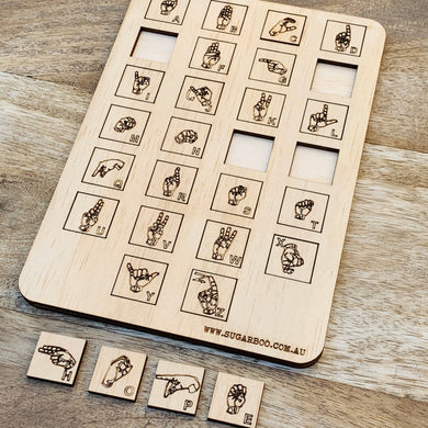 Sign language scrabble tiles — Wood Puzzle, Timber Puzzle, Craft, DIY, Custom Puzzle, Sensory, Timber, Montessori,Puzzle Wooden, auslan