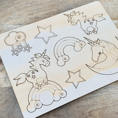 Unicorn Puzzle — Wood Puzzle, Timber Puzzle, Craft, DIY, Custom Puzzle, Sensory, Timber, Montessori, Brain Tease, Wooden