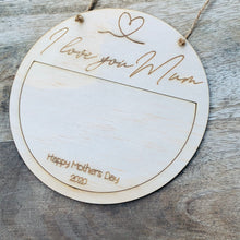 Mini I love you Mothers Day Sign DIY Plaque Wall Hanging Gift Door Sign Home Decor Timber Sign Mum Mummy Nanna Nanny Grandma