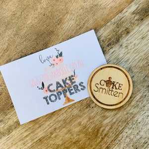 Custom Cake Tokens with your logo Cake Advertising Baking Sweets Engraved Wooden Token Business Advertising Cake Decorating