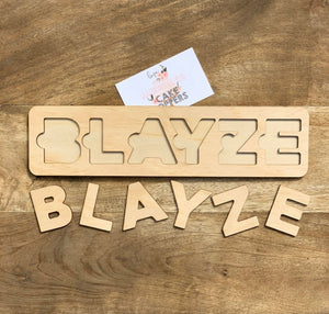 Personalized Name Puzzle — Wood Puzzle, Name Sign, Alphabet Letters, Puzzle, Craft, DIY, Custom Puzzle, Sensory, Timber
