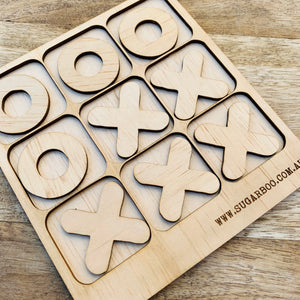 Tic Tac Toe Puzzle — Wood Puzzle, Timber Puzzle, Craft, DIY, Custom Puzzle, Sensory, Timber, Montessori, Naughts and Crosses Puzzle Wooden