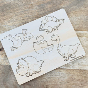 Dinosaur Puzzle — Wood Puzzle, Timber Puzzle, Craft, DIY, Custom Puzzle, Sensory, Timber, Montessori, Brain Tease, Wooden