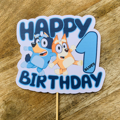 Bluey Cake topper Cake Toppers Cake Decoration Sugar Boo Cake Toppers Birthday cake Happy Birthday