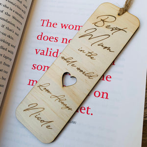 Mothers Day Bookmarks Best Mum Best Nan Best Nonna Best Grandma personalised book mark custom made gift wooden bookmark