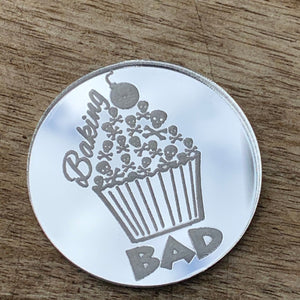 Custom Cake Tokens with your logo Cake Advertising Baking Sweets Engraved Mirror Acrylic Token Business Advertising Cake Decorating