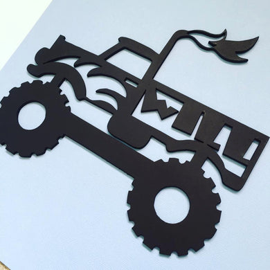 Personalised Monster Truck Door Hanging / Wall Hanging  Nursery Decor Wall Decor Boys Decor