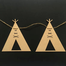 Timber Teepee Garland Bunting Decor Wall Hanging Gift Boho Door Sign Bedroom Decor Teepee Styling