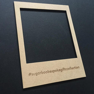 Instagram IG Frame With YOUR Favorite Hashtag Engraved Flat Lay Prop - Photo Prop - Scrap Booking - Craft Supplies
