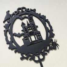 Haunted House Silhouette Cake Topper Cake Decoration Cake Decorating  Personalised Cake Cake Decorating Ideas Halloween Cake Alternative