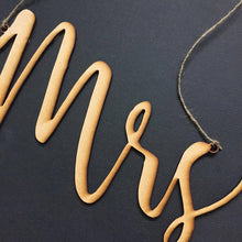 "Mr and Mrs Timber Wedding Chair Signs Wedding Decoration Wedding Decor Mr and Mrs DIY, Top Table signs ""Mr & Mrs"", wedding chair signs"