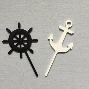 Nautical Theme Cup Cake Topper Cake Topper Cake Decoration Cake Decorating Cake Toppers Cupcake Toppers Birthday Boys Party Decor Sugar Boo