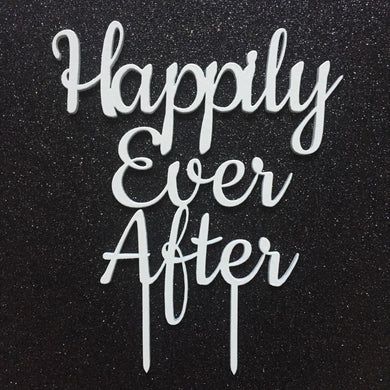 Happily Ever After Wedding Cake Topper Cake Topper Cake Decoration Cake decorating wedding cake topper Sugar Boo Cake Toppers SugarBoo