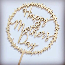 Happy Mothers Day Wreath Cake Topper Cake Topper Cake Decoration Boho Cake Decoration Rustic Cake Mum Mom Mothers Day Sugar Boo Cake Toppers