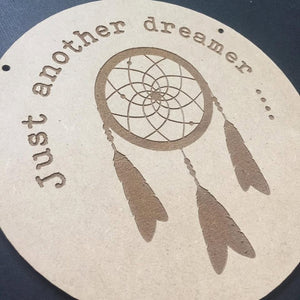 Just another dreamer ... Door Sign Decor Wall Hanging Gift Boho Door Sign Bedroom Decor