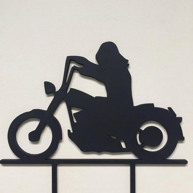 Motorcycle Motorbike Silhouette Cake Topper Cake Decoration Cake Decorating  Personalised Cake Cake Decorating Ideas Birthday Cake Sugar Boo