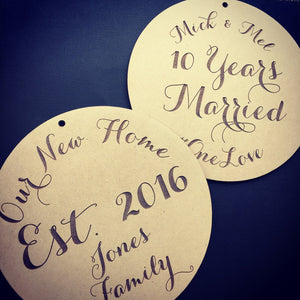 Personalised Hanging - Cake Toppers