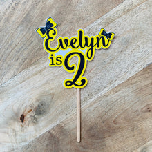 Emma Wiggle Cake Topper Custom Name & Age Yellow Bows