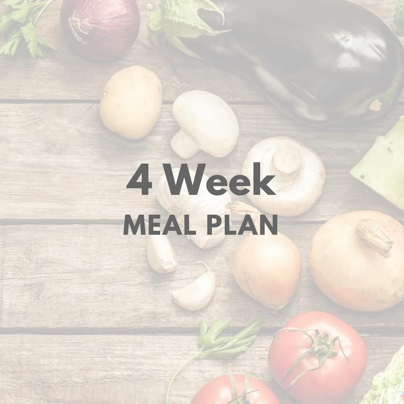 4 Week Meal Plan