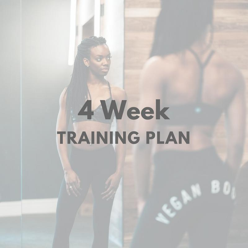 4 Week Training Plan