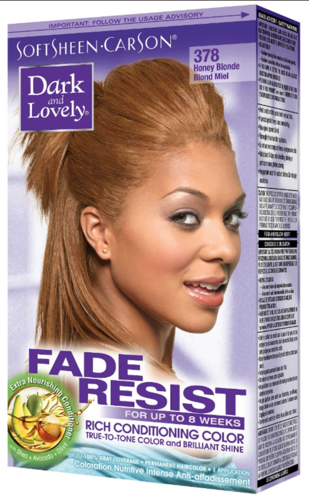 Dark and Lovely Fade Resist Hair Color Honey Blonde 378