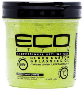 Eco Style Black Castor & Flaxseed Oil Styling Gel 16 oz